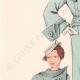 DETAILS 02 | Fashion Plate - Spring 1935 - Kasha gris bleuté agrémenté de nervures