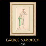 Fashion Plate - Spring 1935 - Romain de laine incrustations piquées