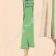 DÉTAILS 03 | Gravure de Mode - Printemps 1935 - Romain de laine incrustations piquées