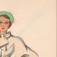 DÉTAILS 04 | Gravure de Mode - Printemps 1935 - Romain de laine incrustations piquées