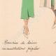 DÉTAILS 07 | Gravure de Mode - Printemps 1935 - Romain de laine incrustations piquées