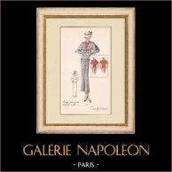 Gravura de Moda - Primavera 1935 - Lainage pied de poule et jersey rouille