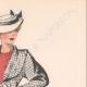 DETAILS 04 | Gravura de Moda - Primavera 1935 - Lainage pied de poule et jersey rouille