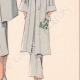 DETAILS 06 | Fashion Plate - Spring 1935 - Ensemble trois quarts en crepalvac gris
