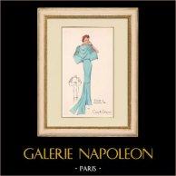 Gravura de Moda - Primavera 1935 - Ensemble de caraména bleu