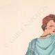 DETALLES 01 | Grabado de Moda - Primavera 1935 - Ensemble de caraména bleu