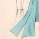 DETALLES 07 | Grabado de Moda - Primavera 1935 - Ensemble de caraména bleu