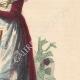 DÉTAILS 05   Costumes typiques des femmes du Mâconnais et de la Bresse (France)