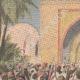 DETTAGLI 01 | Fanatismo in un luogo di pellegrinaggio musulmano a Kerbala - Persia - 1909