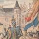DÉTAILS 03 | Annonce traditionnelle de la naissance d'une princesse en Hollande - 1909