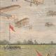 DETTAGLI 02   Grande Semaine d'aviation - Dimostrazione aeronautica a Betany - Francia - 1909