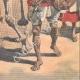 DETTAGLI 06 | Rogui prigioniero arriva in gabbia al palazzo del sultano Moulay Hafid a Fes - Marocco - 1909