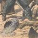 DETTAGLI 05 | Caccia al cinghiale nella stazione di Neussargues - Francia - 1909