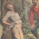 DETTAGLI 02   Due ubriaconi coprono un ragazzo col formice in Eymoutiers - Francia - 1909