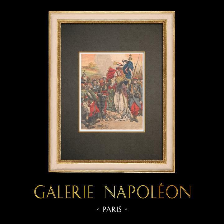 Stampe Antiche & Disegni | Omaggio ai Veterani della Guerra del 1870 - Francia - 1909 | Incisione xilografica | 1909