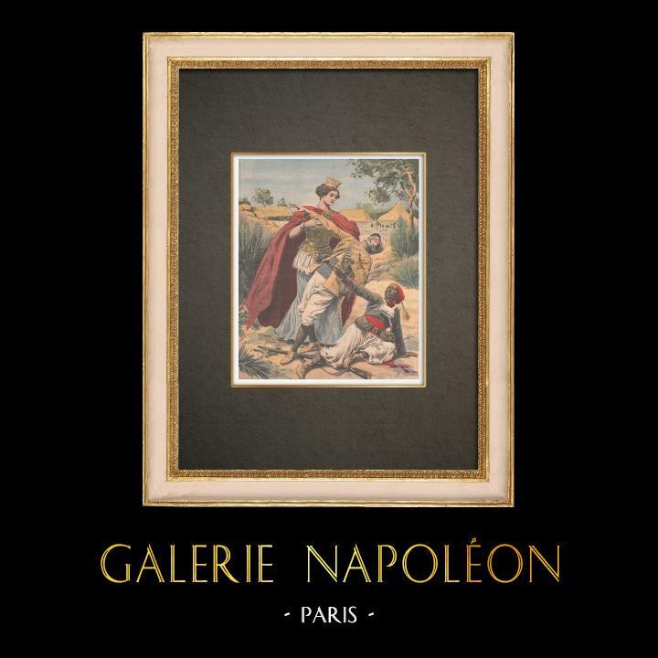 Stampe Antiche & Disegni | Gli eroi dell'Espansione Coloniale - Francia - 1910 | Incisione xilografica | 1910