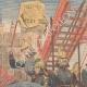 DETTAGLI 01 | Parada dellas suffragettes vestite da pompieri a Londra - Inghilterra - 1910