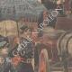 DETTAGLI 02 | Parada dellas suffragettes vestite da pompieri a Londra - Inghilterra - 1910