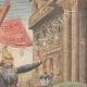 DETTAGLI 03 | Parada dellas suffragettes vestite da pompieri a Londra - Inghilterra - 1910