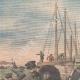DETTAGLI 01 | Arrivo del relitto del sottomarino Pluviose nel porto di Calais - Francia - 1910