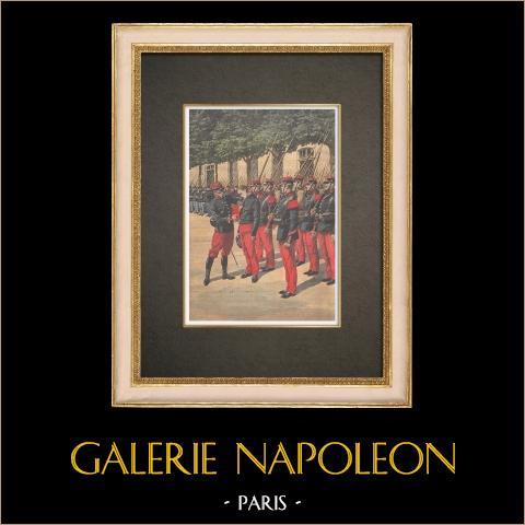 Kassiering van de Moordenaar Graby in de Caserne Mortier in Parijs - 1910 |