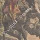 Einzelheiten 02 | Nashorn gegen Elefanten (Indien) - 1910