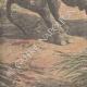 Einzelheiten 05 | Nashorn gegen Elefanten (Indien) - 1910