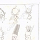 DETAILS 03 | Hieróglifos - Toucados para deidades - Pschent (Egito)