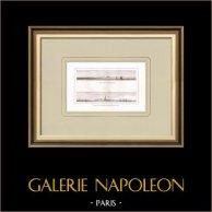 Fuerte de Marabout - Toma de Alejandría - 1798 - Campaña Napoleónica en Egipto (Egipto) | Grabado original en talla dulce sobre cobre dibujado por Denon, grabado por Laderer. 1830