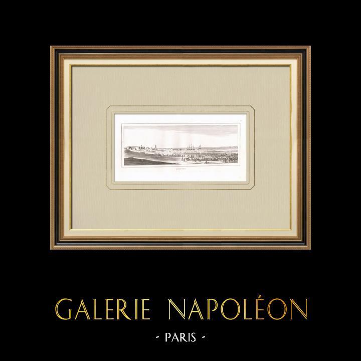 Oude Prenten & Tekeningen | Aankomst van het Franse Leger in Qosséïr - Napoleontische Campagne in Egypte (Egypte) | Kopergravure | 1830