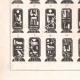 Einzelheiten 03   Ägyptische Hieroglyphen - Kartuschen der Könige und Königinnen von Ägypten