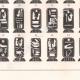 Einzelheiten 04   Ägyptische Hieroglyphen - Kartuschen der Könige und Königinnen von Ägypten