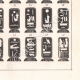 Einzelheiten 06   Ägyptische Hieroglyphen - Kartuschen der Könige und Königinnen von Ägypten