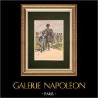 Le Général Rapp et son état-major en Alsace - France (1815)   Impression originale d'après Tanconville. 1911
