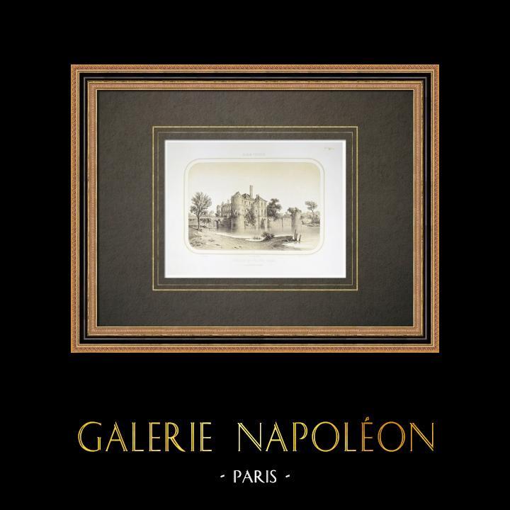 Alte Stiche & Zeichnungen | Schloss von Palluau - Pays de la Loire - Vendée (Frankreich) | Lithografie | 1860