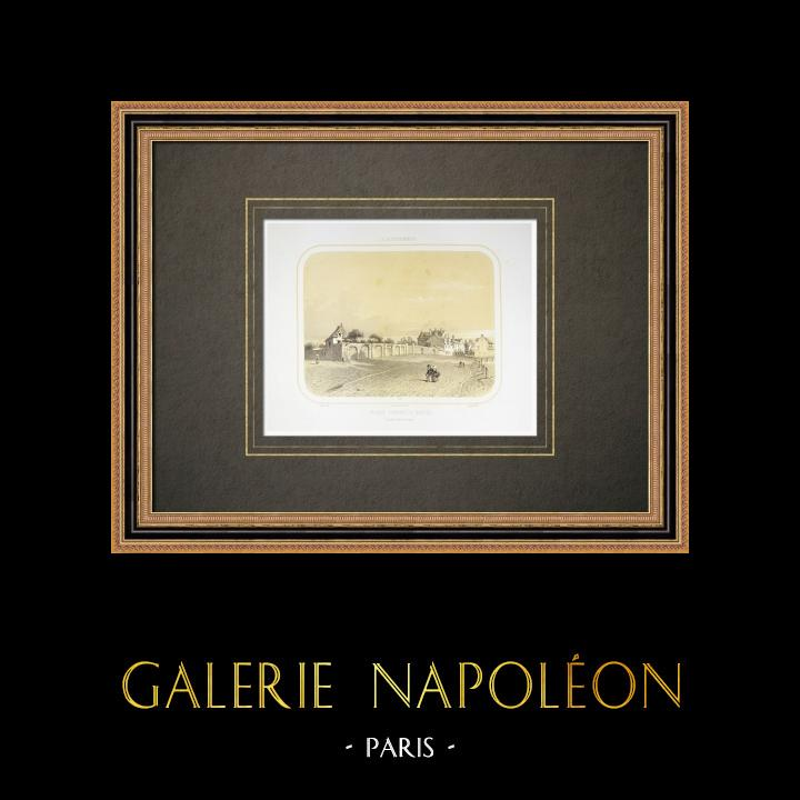 Alte Stiche & Zeichnungen | Place Viarme in Nantes - Loire-Atlantique (Frankreich) | Lithografie | 1860