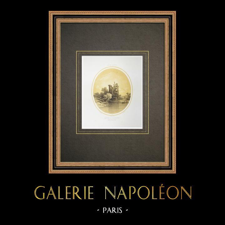 Antique Prints & Drawings | Vieillevigne Castle - Loire-Atlantique (France) | Lithography | 1860