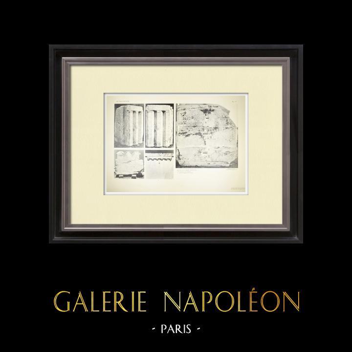 Alte Stiche & Zeichnungen | Ansicht von den Parthenon - Kapitelle - Ordnung (Griechenland) | Heliogravüre | 1912