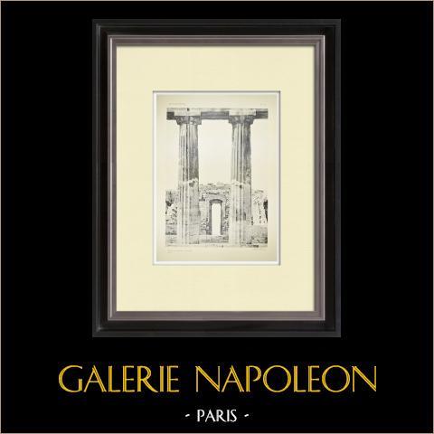 Vue du Parthénon - Colonnes (Grèce) | Héliogravure originale. Anonyme. 1912
