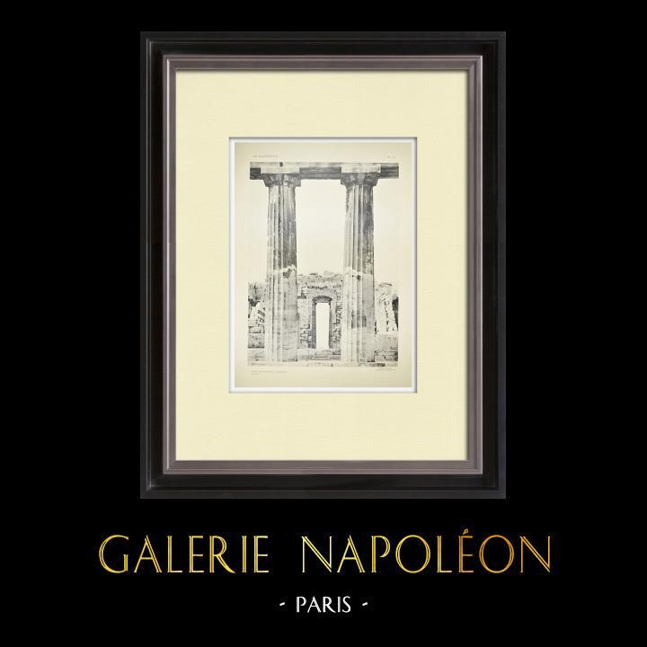 Gravures Anciennes & Dessins | Vue du Parthénon - Colonnes (Grèce) | Héliogravure | 1912
