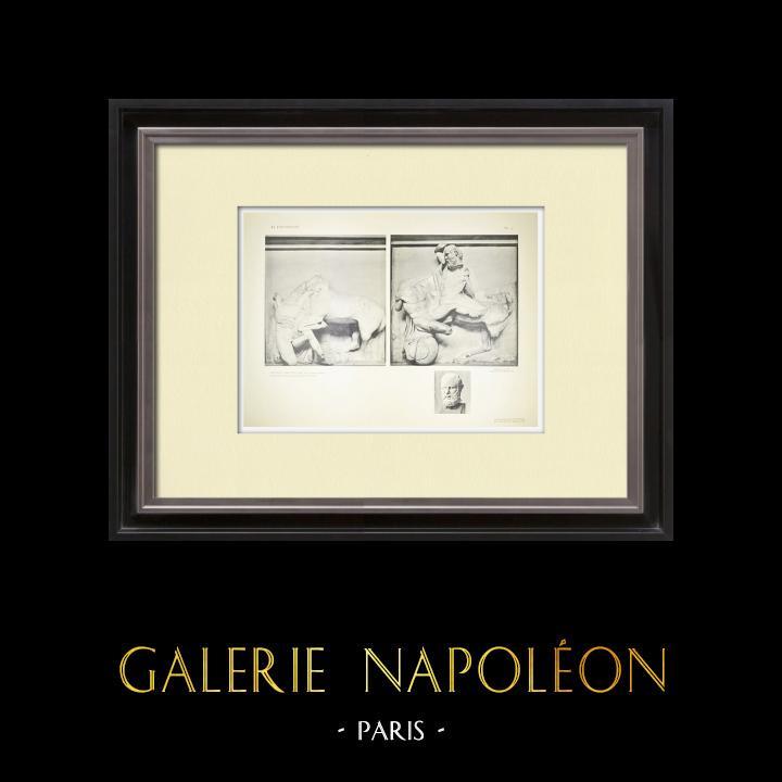 Alte Stiche & Zeichnungen   Parthenonmetope - Kentaur (Griechenland)   Heliogravüre   1912
