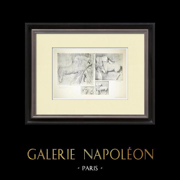 Gravures Anciennes & Dessins | Métopes du Parthénon - Face sud - X et XII - Centaure (Grèce) | Héliogravure | 1912