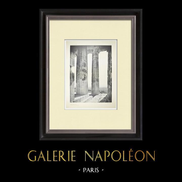 Stare Grafiki & Rysunki | Widok Partenon, Kąt Północno-zachodni (Grecja) | Heliograwiura | 1912