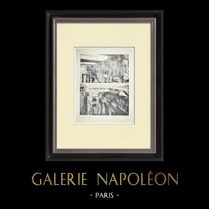Oude Prenten & Tekeningen | Parthenon - Ionische Fries van Cella - Westzijde - Overzicht - pl. 77 | Heliogravure | 1912