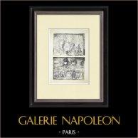Partenón - Friso jónico de la Cella - Cara oeste - Pl. 79 | Heliograbado original. Anónimo. 1912