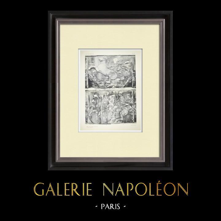 Alte Stiche & Zeichnungen | Parthenon - Ionenfries von Cella - Westliche Seite - Pl. 82 | Heliogravüre | 1912