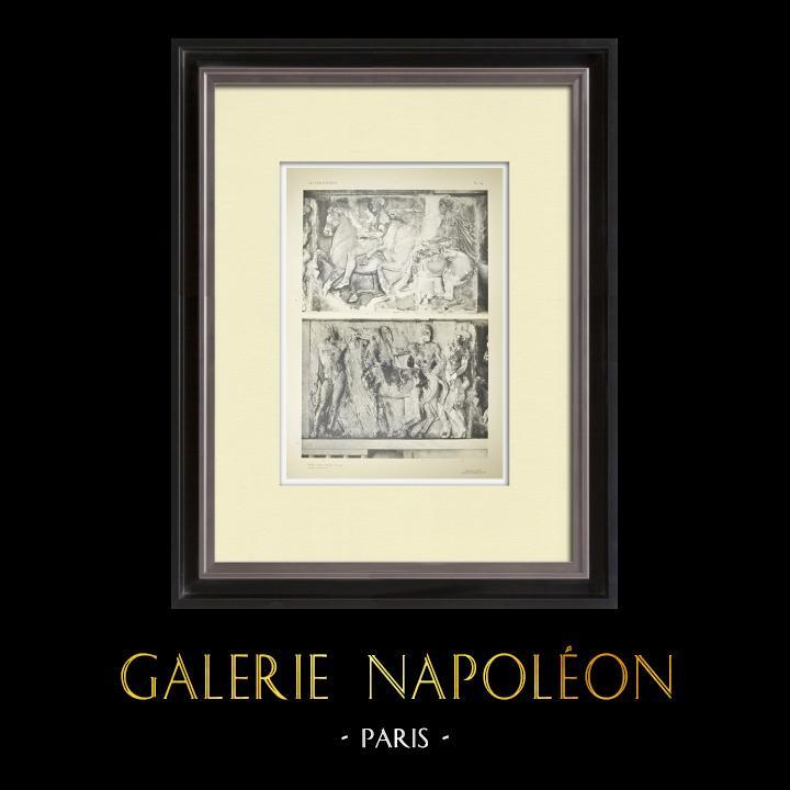 Antique Prints & Drawings | Parthenon - Ionic frieze of Cella - West side - Pl. 84 | Heliogravure | 1912