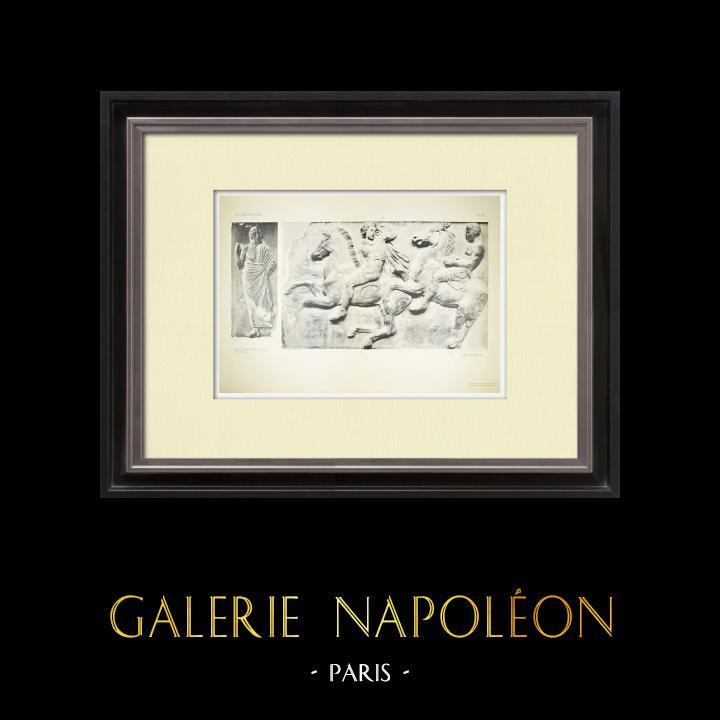 Antique Prints & Drawings | Parthenon - Ionic frieze of Cella - West side - Pl. 85 | Heliogravure | 1912