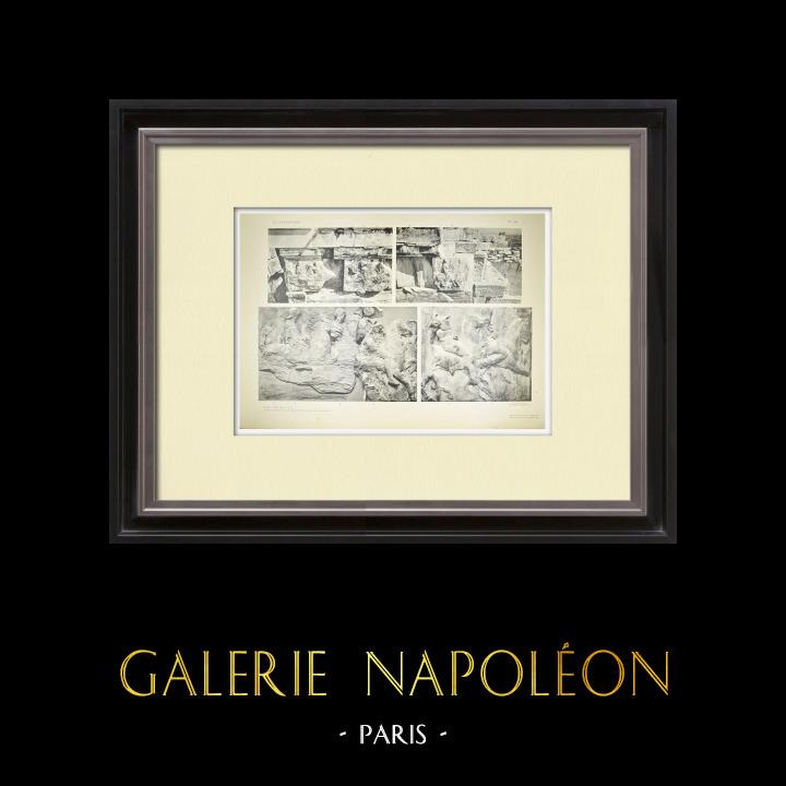 Antika Tryck & Ritningar | Parthenon - Ionisk fris i Cella - Syd - Pl. 88 | Heliogravyr | 1912