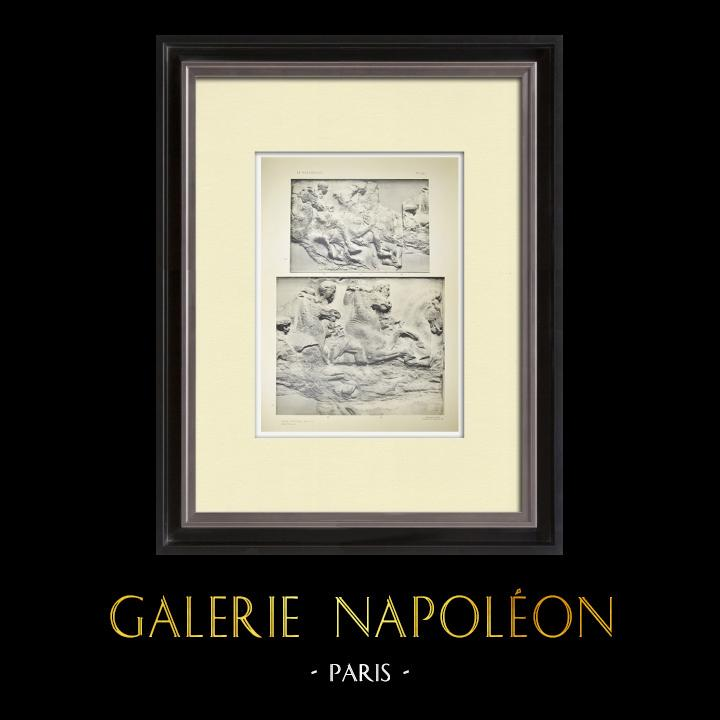Alte Stiche & Zeichnungen | Parthenon - Ionenfries von Cella - Südlich Seite - Pl. 90 | Heliogravüre | 1912
